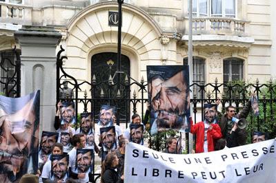 Acto organizado ayer en París por RSF.