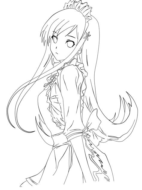 anime cat coloring pages