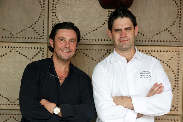 Chef Bruno Menard and Chef Damien Le Bihan