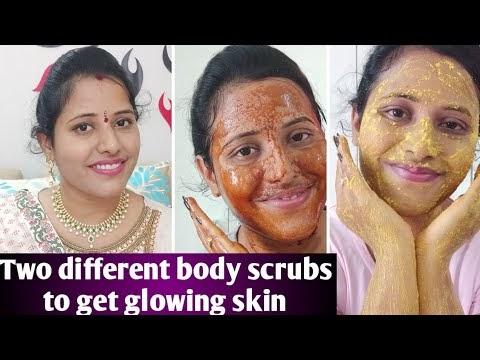 Body whitening Home remedies/Body scrub for glowing skin/Body scrub