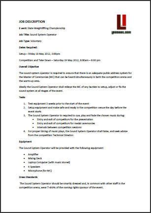 Job Description Examples Inenx
