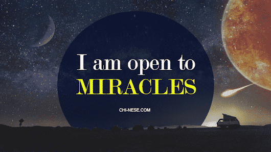 Miracle Affirmations To Help You Make Your Dreams Come True. Get Into the Miracle Vibe!