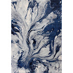 """KAS Illusions 6201 Watercolors 5'3"""" x 7'7"""" Blue Area Rug"""