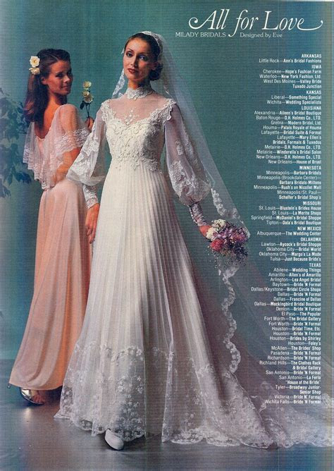 I love the sleeves and the pleats! Feb/March 1980 Brides
