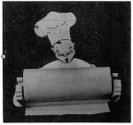 The Chef Will Hold Your Paper Towel Vintage Woodworking Plan - fee plans from WoodworkersWorkshop® Online Store - kitchen,paper towel holders,full sized patterns,vintage woodworking plans,old projects,recycled,woodworkers projects,blueprints,drawings,blueprints,how-to-build