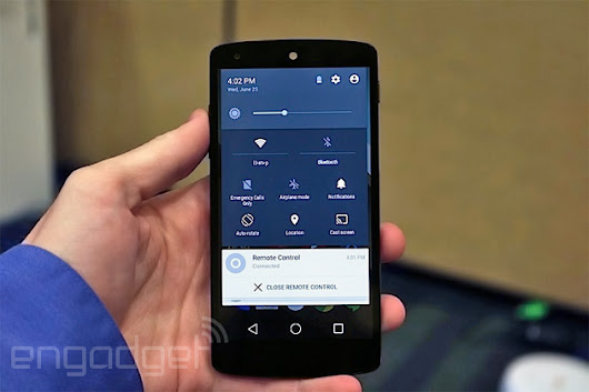 We just played with Android's L Developer Preview