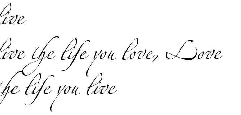 Live Live The Life You Love Love The Life You Live Tattoo