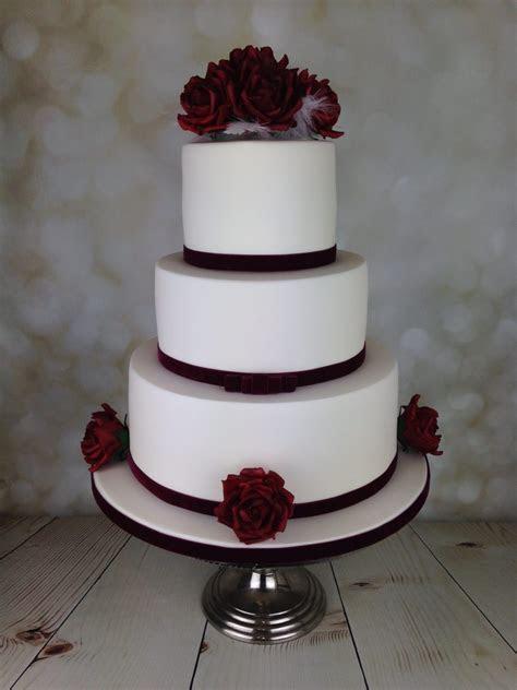 Red Velvet roses wedding cake   Mel's Amazing Cakes
