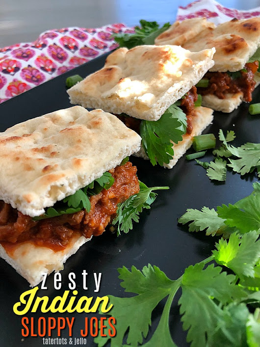 Zesty Indian Sloppy Joes are a Flavorful Taste Sensation