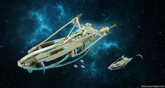LEGO StarCraft Protoss Carrier measures over 31 inches long | The Brothers Brick | LEGO Blog
