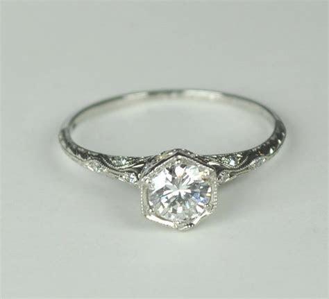 Simply Elegant Art Deco Engagement RIng   Wedding, Wedding