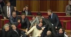 Fistfights Occur Frequently in Ukraine's Parliament