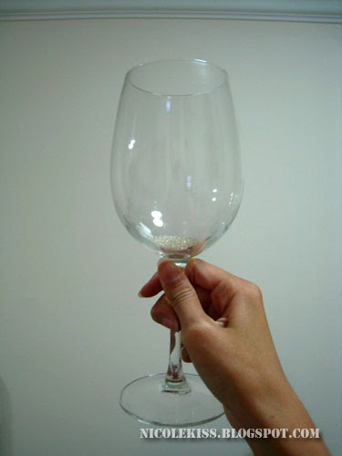 crystal soil in wine glass