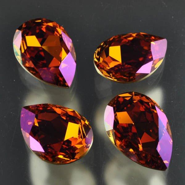 s33486 Swarovski Fancy Rhinestones - 20 x 30 mm Faceted Pear (4327) - Crystal Summer Blush (1)