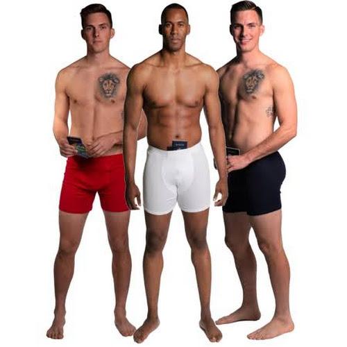 Stashitware Stash Pocket Boxer Brief Variety 3 Packs Men's Red, White, Blue