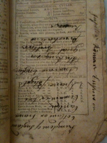 Pages of 1804 New-England Almanack