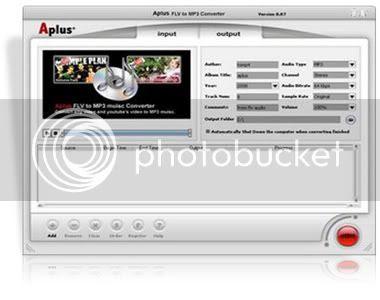 Aplus FLV to MP3 Converter v8.87