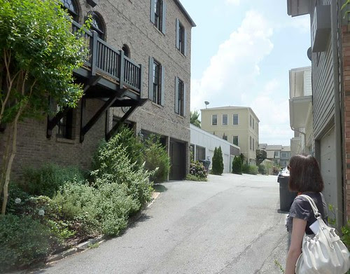 P1020687-2010-06-22-Glenwood-Park-Domenick-Treschitta-Explains-Landscaped-Alley-Butressed-At-Corners
