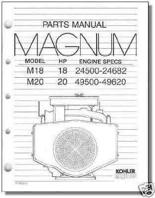 TP-2233-C NEW PARTS Manual For M18 - M20 KOHLER Engine