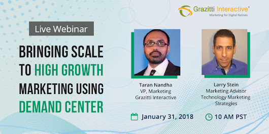WEBINAR - Bringing Scale to High Growth Marketing Using Demand Center
