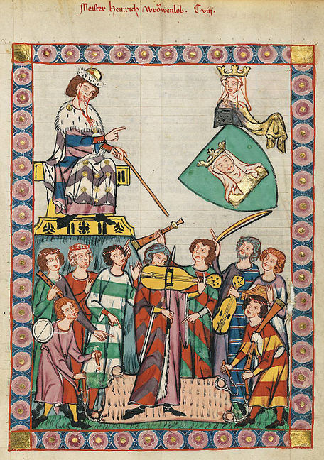 medieval musicians play for the king