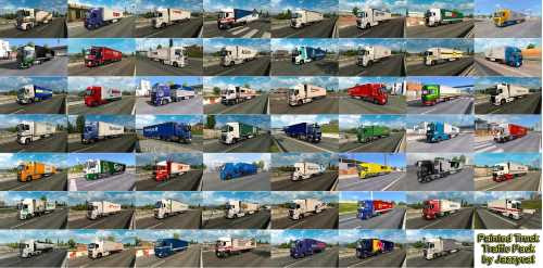 Painted Truck Traffic Pack by Jazzycat v6.9 | ETS2 Mods