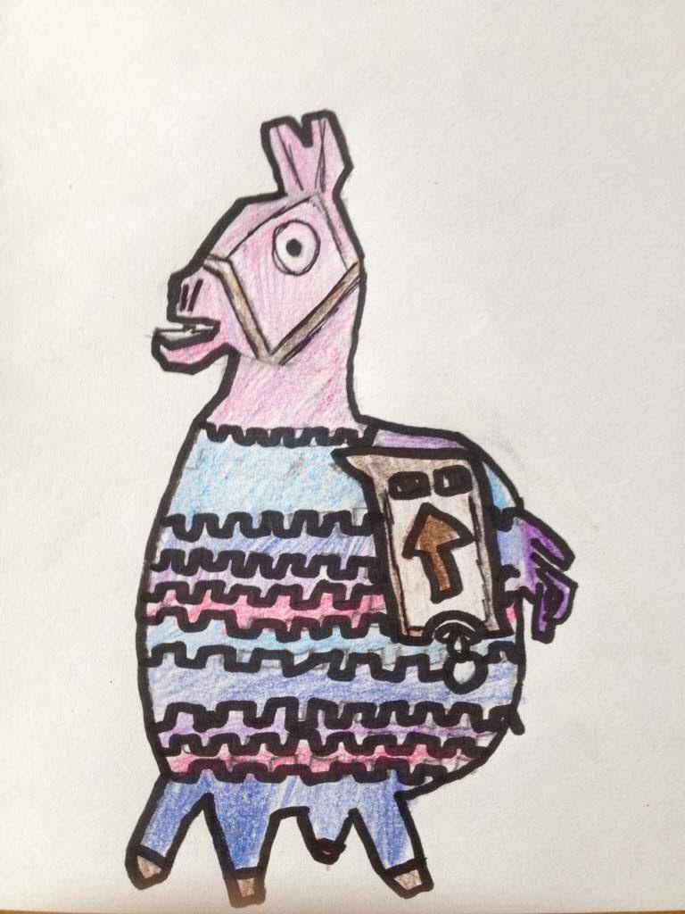 how to draw a fortnite llama easy stepstep