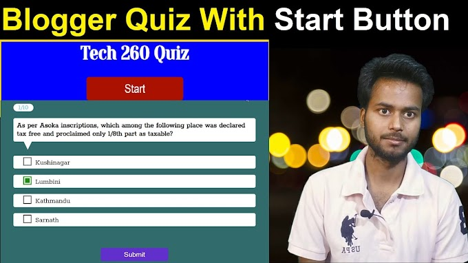 Advanced Blogger Quiz With Start Button