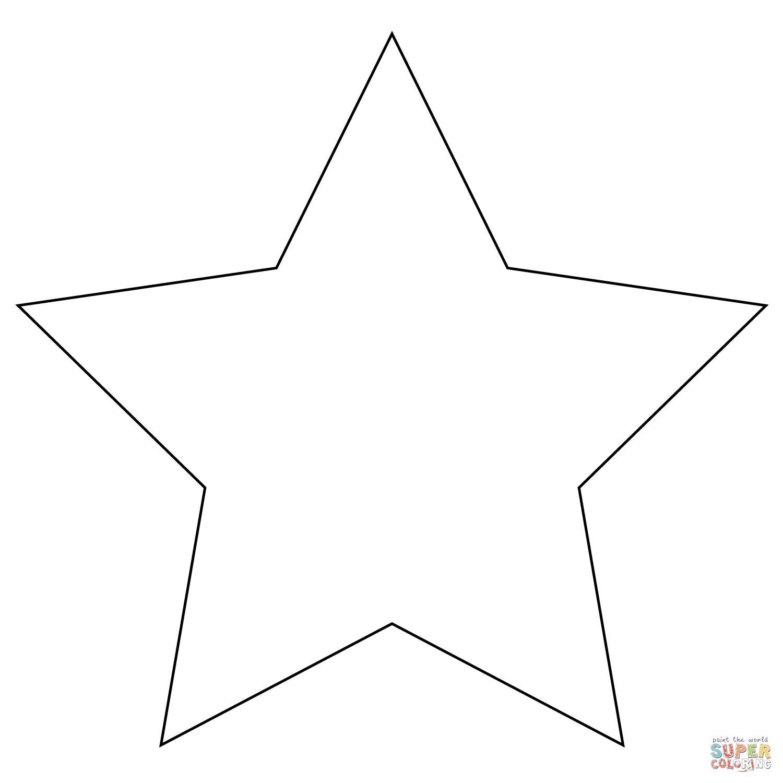 Dibujo De Estrella De Cinco Picos Para Colorear Dibujos Para