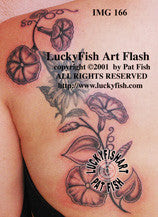 Morning Glories Tattoo Design Luckyfish Art