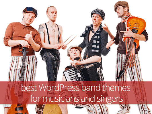 best WordPress band themes for musicians and singers | WPdiscounts - premium WordPress news, reviews & discount coupons