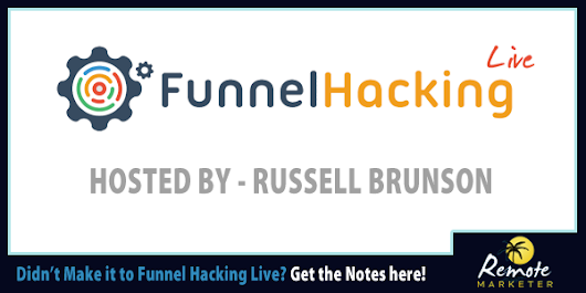 Funnel Hacking Live Notes 2015