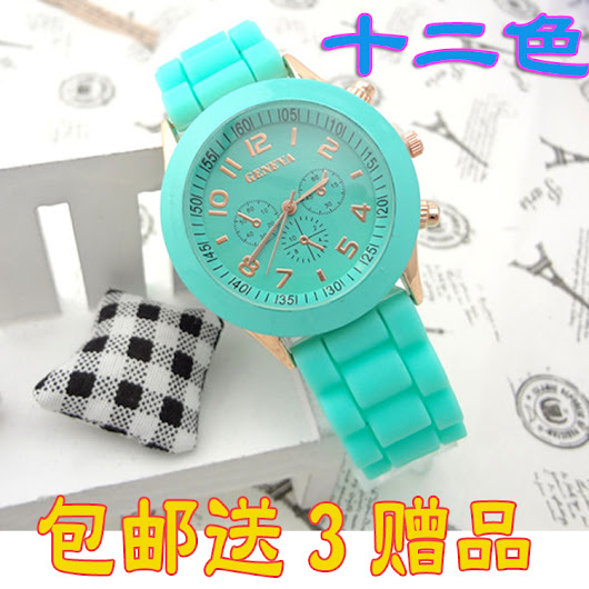 Geneva Casual Watch Women Dress Watch 2014 Quartz Military men Silicone watches Unisex Wristwatch Sports watch