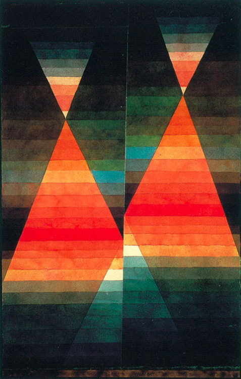 iheartloons:  Paul Klee. Double Tent. 1923. Water color and pencil on paper. 50.6 x 31.8cm. Private Collection. © 1999 VG Bild Kunst Artists Rights Society (ARS), New York.
