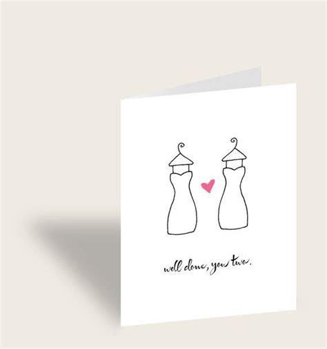 Same sex wedding card, lesbian couple, original, marriage