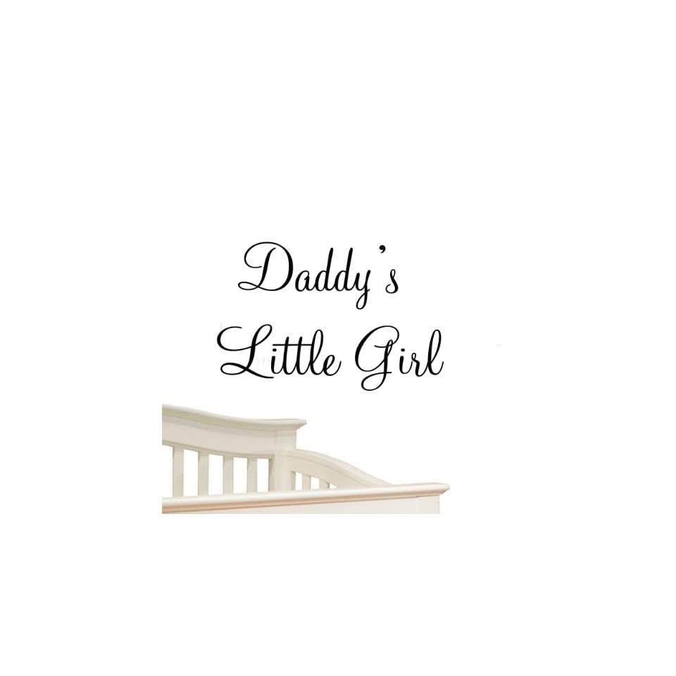 Daddys Little Girl Nursery Wall Decals Cute Baby Quote Vinyl Nursery