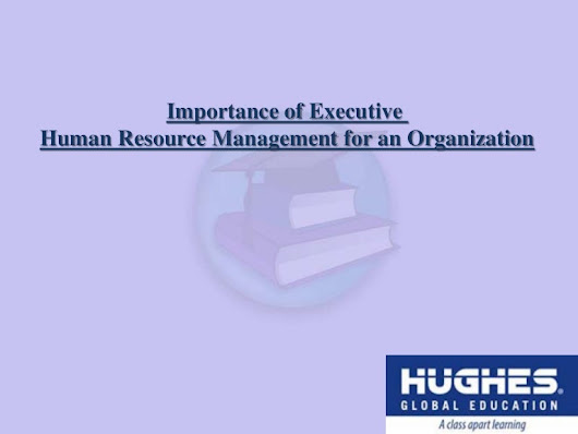 Importance of human resource management for an organization