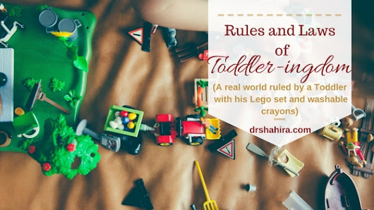 Parenting Toddlers - Unwritten laws of Toddler-ingdom