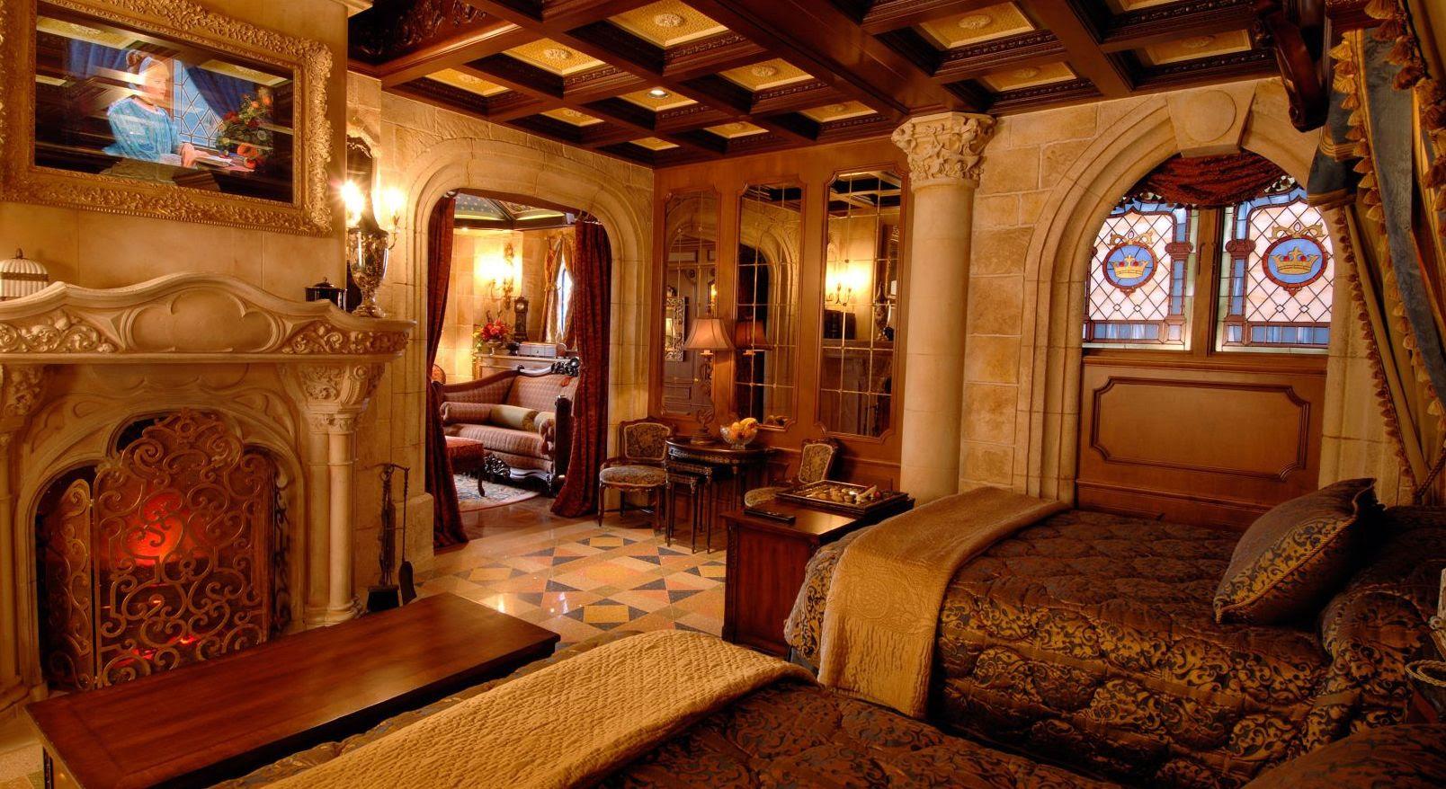 Cinderella Suite - Camas e Lareira