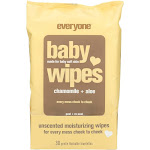Everyone Baby Wipes, Unscented, Chamomile + Aloe, Moisturizing - 30 wipes