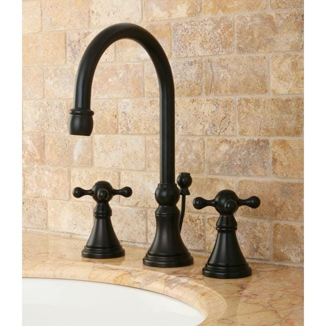 Champagne Bronze High Arc Widespread Bathroom Sink Faucet 572939 Bathroom Faucets Home Depot