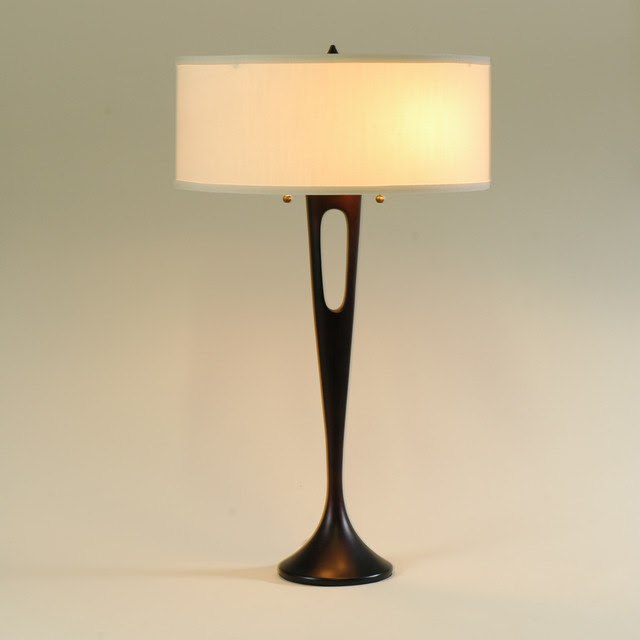 Lights Up! Soiree Table Lamp - base: antique bronze - shade ...