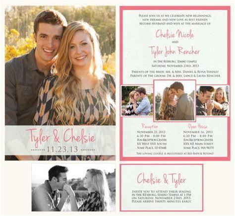 Printable wedding announcement   LDS Mormon wedding