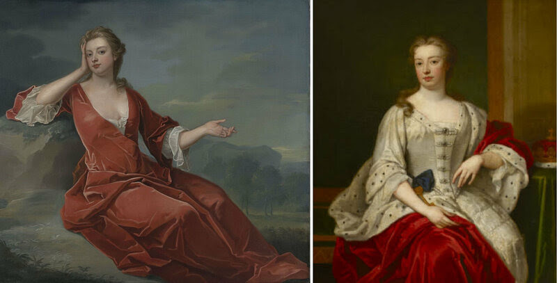 There have been three female Grooms of the Stool, Elizabeth Boyle (not pictured) to Queen Dowager Henrietta Maria, and to Queen Anne: Sarah Churchill (left) and Elizabeth Seymour (right).