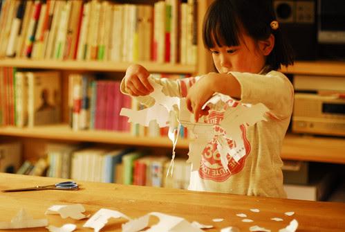 my daughter's cut work by mutsuko_nagatani