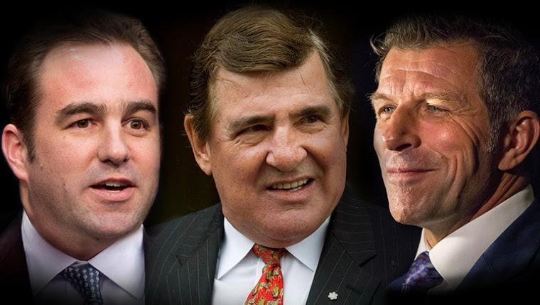 Geoff Molson, Serge Savard et Marc Bergevin