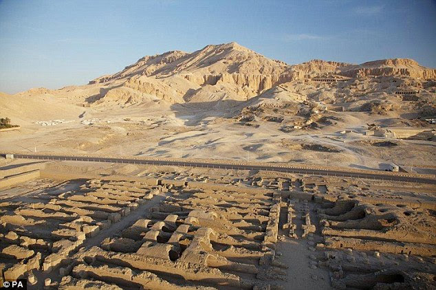 Ancient techniques: Mr Billis has his body preserved using the same methods as were used on Tutankhamun. Pictured is the Valley of the Kings in Egypt
