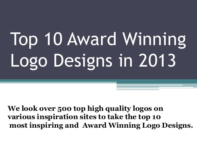 Design your logo as a Recognized