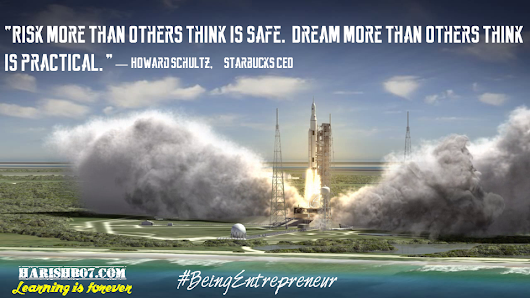 Risk More Dream More - #BeingEntrepreneur Series
