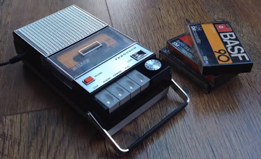 Someone put Spotify inside this old cassette recorder